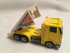 1986 Hot Wheels Yellow Tow Truck 24 Hr Hour Emergency Towing Rollback Ramp 1:64