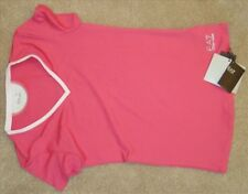 Women's EA7 Emporio Armani Pink Activewear Sports Top TShirt - Size Small - BNWT
