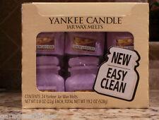 YANKEE CANDLE LEMON LAVENDER JAR TART ~~24 ~~  DISCONTINUED EASY CLEAN!