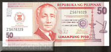 Philippines 50 Pesos 2012 Unc Pn new Replacement (Z serie )