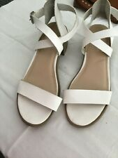 White Leather New Look Sandals Size 3