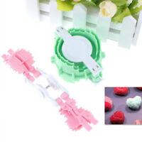 2pcs Heart Shape Pom Pom Maker Fluff Ball Weaver Baby Knitting Craft Tool ATSE