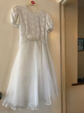 Holy Communion Dress, Age 9-10, Excellent Condition, Rare Bought In USA, Elegant