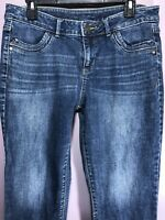 Simply Vera Vera Wang Size 12 Jeans Denim Mid Rise Medium Wash Straight G18