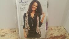 Annie's Hook and Needle Kit Lace Vest Hnk103 Crochet