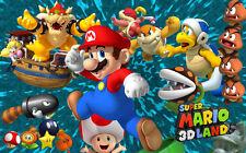 "Super Mario - Bros Game Baby Cute  Fabric poster 40"" x 24"" Decor 79"