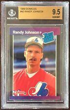 1989 Donruss #42 RANDY JOHNSON Rookie RC BGS 9.5 Gem Mint 10 Centering