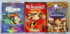 Disney Pixar Dvd Lot Finding Nemo The Incredibles Ratatouille 5 Discs w Slipcase