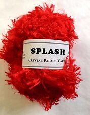 """Crystal Palace Splash #3390 """"Lacquer Red"""" Feather Boa Eyelash Yarn 100gram 85yds"""