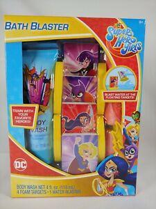 DC Super Hero Girls Bath Blaster w/ Floating Tub Targets & Body Wash - New