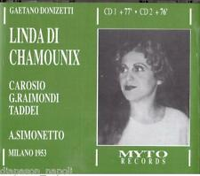 Donizetti: Linda Di Chamounix / Carosio, Raimondi, Taddei, Milano 1953 - CD Myto