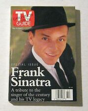 Vintage TV Guide Magazine May 30-June 5 1998 Frank Sinatra Cover Entertainment