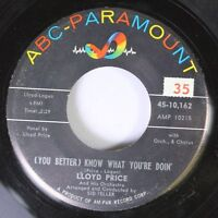 Soul 45 Lloyd Price - (You Better) Know What You'Re Doin' / That'S Why Tears C 4