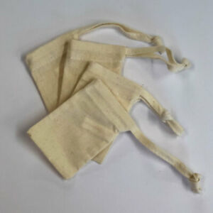 Small Cotton Drawstring Bags | Ring Bags | Treat Bags | Perfect for Printing