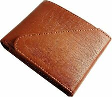 UK Genuine Mens Bifold Leather Wallet Quality ID Credit Card Holder Purse Brown
