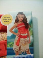 NEW GIRL'S DISNEY MOANA ADVENTURE OUTFIT COSTUME SMALL 4-6X DRESS UP PLAY SKIRT