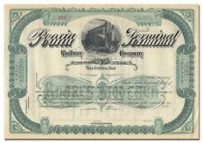 Peoria Terminal Railway Company Stock Certificate