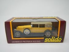 Solido Renault 40cv 1926 Decouvrable Yellow 1:43