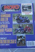 MOTO JOURNAL 938 KAWASAKI ZZR 600 APRILIA Pegaso SUZUKI DR 350 HONDA NX 650
