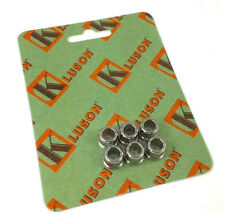 "(6) Kluson Nickel Guitar Tuner Adapter Bushings 10mm Peghead 1/4"" Post MB65NLUS"
