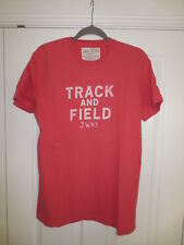MENS JACK WILLS CORAL PINK SALMON TRACK AND FIELD T TEE SHIRT MEDIUM M MINT RARE