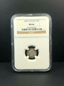 1846-A France 25 Centimes NGC MS 64