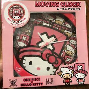 One Piece Chopper Hello Kitty Moving Clock Pink Sanrio Collaboration Cute Japan
