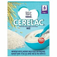 Nestlé Cerelac Fortified Baby Cereal with Milk – 6 Months+ Stage 1 Rice, 300 gm