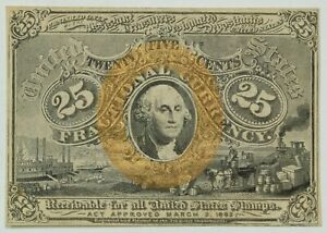 1863 United States 25 Cent Fractional Currency  Item#P13172