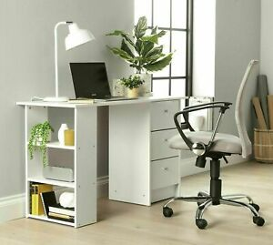 Home Malibu 3 Drawer Office Desk - White