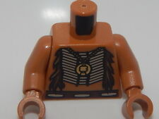 Lego Torso Bare Chest with Beaded Armor, Fur and Gold Minifig Pendant  #55