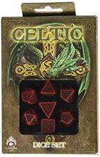 Dadi Q-workshop Celtic 3d Revised Red & Black Dice Set