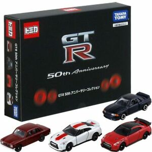 Takara Tomy Tomica NISSAN GT-R 50th Anniversary Collection Set 4pcs Diecast