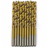 1/1.5/2/2.5/3mm 50Pcs HSS High Speed Steel Drill Bit Set Tool Titanium Coated
