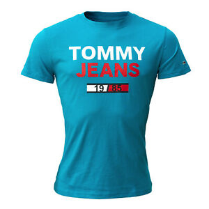 Tommy Jeans Mens TJM Arched Graphic Tee Sport Shirt