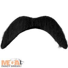 Black Fake Moustache Fancy Dress False Tash Henbrandt U00473
