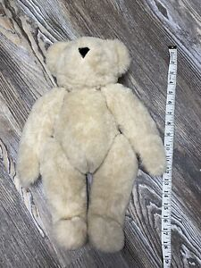 """Vermont Teddy Bear 16"""", Fully Jointed, Black Dress, Made in USA Blonde Judge"""