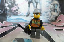 Lego Figurine Minifig City pompier fireman fire feu airtanks casque cty0524 USED