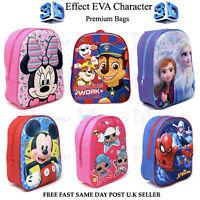 Disney Marvel Frozen Paw 3D Eva Kids Junior Backpack School Bag Spiderman Bag