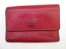 -AUTHENTIQUE portefeuille-porte-monnaie FOSSIL cuir  BEG vintage