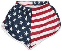 US Flag Ranger Panties Silkies Running Track Shorts by Soffe Men's Small