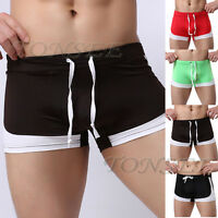 HOT Men's Cotton Blend Boxer Briefs Cool Swim Trunks Shorts Swimwear Size S M L