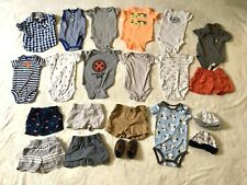 6, 6-9 Month Baby Boy Summer Clothes 35 piece Lot Romper Shorts Carters Shirts
