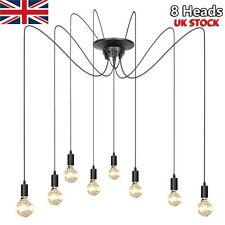 8 Heads Retro Style Edison Vintage Loft Spider Pendant Light Hanging Lamps Decor