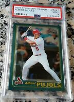 ALBERT PUJOLS 2001 Topps Chrome Rookie Card RC PSA 9 MINT 2 WS Rings $ 633 HRs $