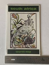 vintage 1972 Republic of South Africa tourist map