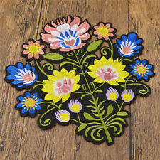 1x Sun Flower Embroidered Patche Iron On Applique Sewing DIY Handmade Home Decor