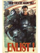 """FALLOUT 4 POSTER """"LICENSED"""" BRAND NEW """"ENLIST"""" SIZE 61cm X 91.5cm"""
