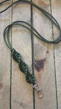 Paracord Neck Lanyard Olive Green Barley Twist for ACME Gundog Training Whistle