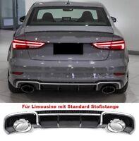 Für Audi A3 8V 12-15 RS Look Wabengrill Stoßstange Diffusor Sportauspuff Grill 1